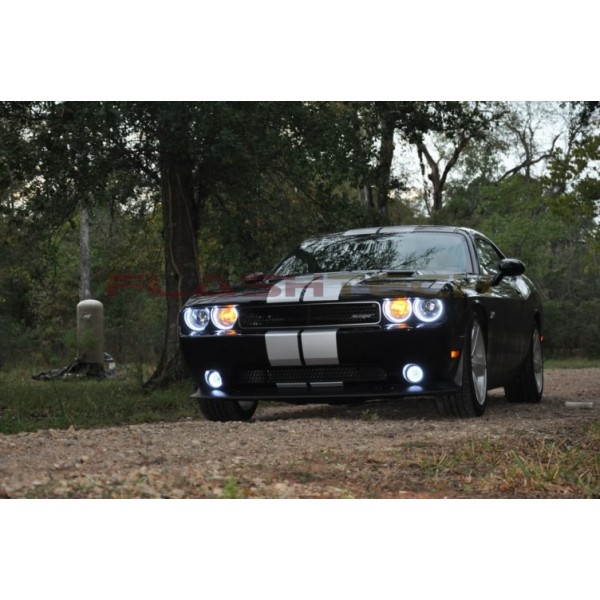 Dodge challenger white non projector led halo headlight kit 2008 2014 flashtech dodge challenger white non projector led halo headlight kit 2008 2014 challenger publicscrutiny Images