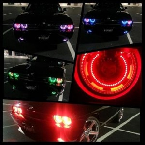 flashtech Dodge Challenger Projector V.3 Fusion Color Change LED HALO HEADLIGHT KIT (08-14) Challenger DO-CLP0813-V3H