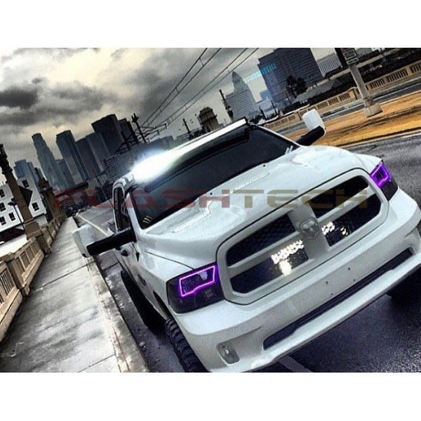 Dodge ram sport v3 fusion color change led halo headlight kit 2009 flashtech dodge ram sport v3 fusion color change led halo headlight kit 2009 publicscrutiny