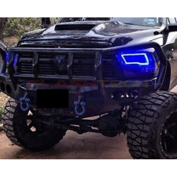Flashtech Dodge Ram Sport V 3 Fusion Color Change Led Halo Headlight Kit 2009