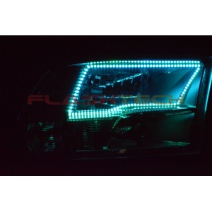 flashtech Dodge RAM SPORT V.3 Fusion Color Change LED Halo Headlight Kit 2009-2016 RAM DO-RMS1013-V3H