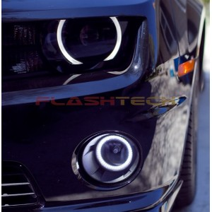 flashtech Chevy Camaro White LED HALO FOG LIGHT KIT (2010-2013) 10-13 Camaro CY-CA1013-WF