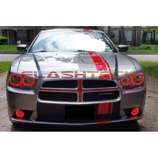 Dodge charger v3 fusion color change led halo headlight kit 2011 2014 flashtech dodge charger v3 fusion color change led halo headlight kit 2011 publicscrutiny