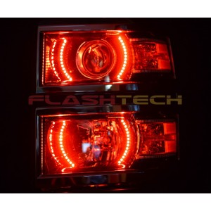 flashtech Chevrolet Silverado V.3  Fusion Color Change halo projector  headlight kit (2014-2015) Silverado CY-SV1415P-V3H