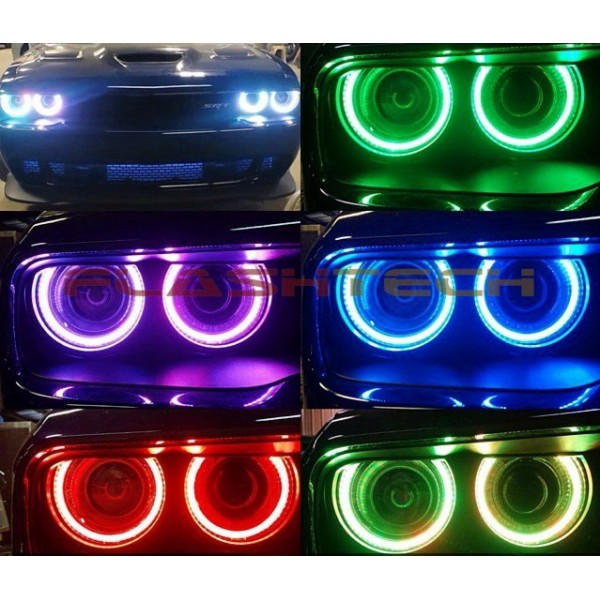 Dodge Challenger Conversion >> Dodge Challenger Projector V.3 Fusion Color Change LED Halo Headlight Kit (15 +)
