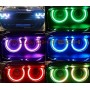 flashtech Dodge Challenger Projector V.3 Fusion Color Change LED Halo Headlight Kit (15 +) Challenger DO-CLP2015-V3H