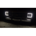 Chevy & GMC trucks 1973 - 1979 External Waterproof White & Amber Switchback LED Halo Headlight Kit