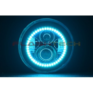 flashtech 7 inch round LED Projector V.3 Fusion Color Change Halo Headlight Kit Wrangler 7inch-LEDprojector-V3H