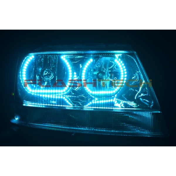 Jeep Grand Cherokee Square V 3 Color Change Led Halo