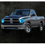 Dodge RAM  V.3 Fusion Color Change LED Halo Headlight Kit (2010-2014)