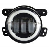 "Flashtech 4030 LED Fog Lamp Assemblies: 4"" Round with white LED halos Installed"