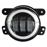 "Flashtech 4030 LED Fog Lamp Assemblies: 4"" Round with white LED halos Installed"