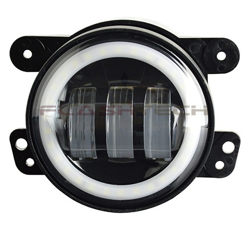 "Hyundai Round Rock >> Flashtech 4030 LED Fog Lamp Assemblies: 4"" Round with white LED halos Installed"