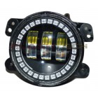 "Flashtech 4030 LED Fog Lamp Assemblies: 4"" Round with Fusion V.3 Color Changing halos Installed"