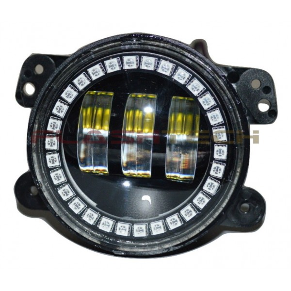Flashtech 4030 LED Fog Lamp Assemblies 4 Round With