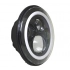 "Flashtech 7045 7""  LED Headlight Assemblies: 7"" Round with white LED halos Installed"