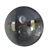 "Flashtech 7045 LED Headlight Assemblies: 7"" Round Black Housing"