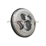 "Flashtech 7045 LED Headlight Assemblies: 7"" Round Chrome Housing"