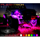 8 Piece V.3 Fusion Color Change LED Rock light Kit - Bluetooth Waterproof IR Controller
