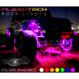 8 Piece V.3 Fusion Color Change LED Rock light Kit - Smartphone Waterproof IR Controller
