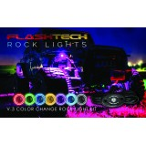 6 Piece V.3 Fusion Color Change LED Rock light Kit - Keyfob RF Controller