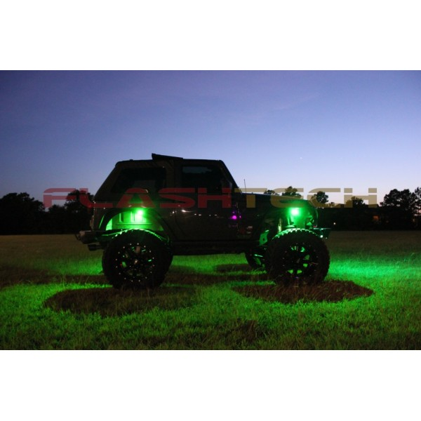 Rock Light 4 Piece Kit Green
