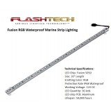 Flashtech 36 LED Fusion Color Change Marine Aluminum Strip Lighting