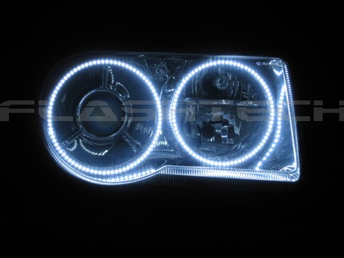 Chrysler 300c White Led Halo Headlight Kit  2005