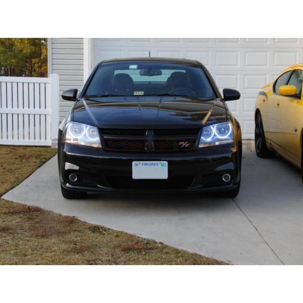 Dodge avenger white led halo headlight kit 2008 2015 flashtech dodge avenger white led halo headlight kit 2008 2015 avenger do publicscrutiny Images
