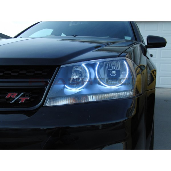 Dodge avenger white led halo headlight kit 2008 2015 flashtech dodge avenger white led halo headlight kit 2008 2015 avenger do publicscrutiny
