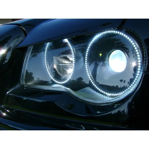 Chrysler 300c White Led Halo Headlight Kit 2005 2010