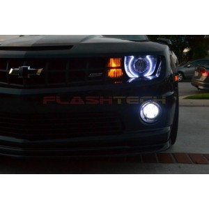 flashtech Chevrolet Camaro RS White LED HALO HEADLIGHT  KIT (2010-2013) 10-13 Camaro CY-CARS1013-WH