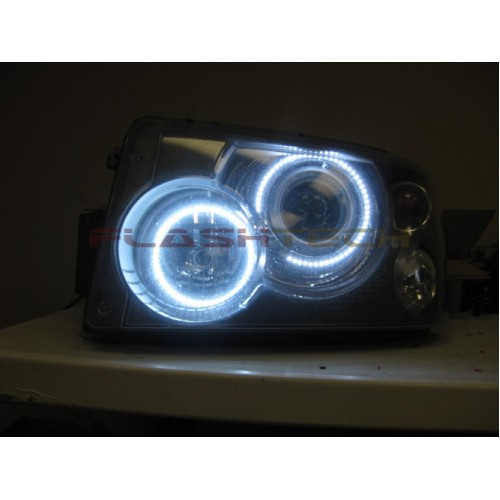 Range Rover Hse Sport White Led Halo Headlight Kit 2006 2009