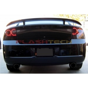 flashtech Dodge Charger White LED HALO TAIL LIGHT KIT (2005-2007) 2005-2010 Charger DO-CR0507-WHTL