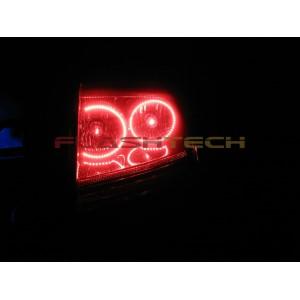 flashtech Dodge Charger White LED HALO TAIL LIGHT KIT (2005-2007) 2005-2010 Charger DO-CR0507-WHTL
