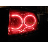 Dodge Charger White LED HALO TAIL LIGHT KIT (2005-2007)