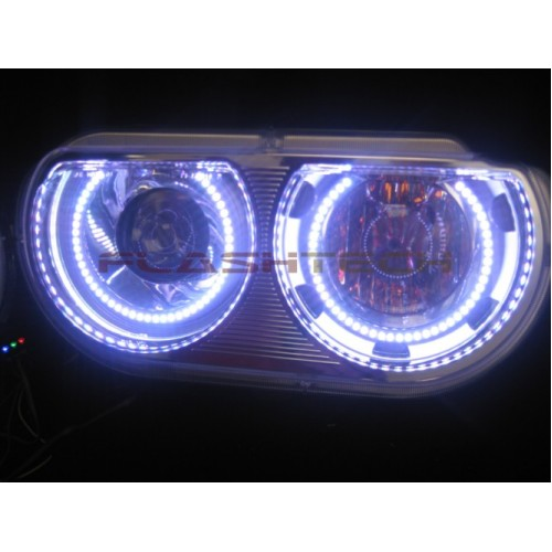 Dodge Challenger White Oem Projector Led Halo Headlight