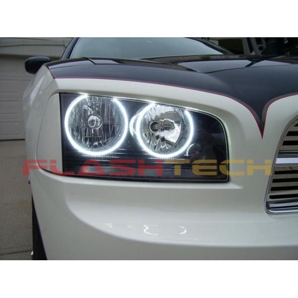 Dodge Charger White Led Halo Headlight Kit 2005 2010