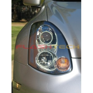 flashtech FLASHTECH White LED HEADLIGHT HALO KIT for Infiniti G35 Coupe (06-08) Headlights IN-G350608-WH