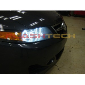flashtech Acura TSX White LED HALO HEADLIGHT KIT (2004-2008) TSX AC-TSX0408-WH