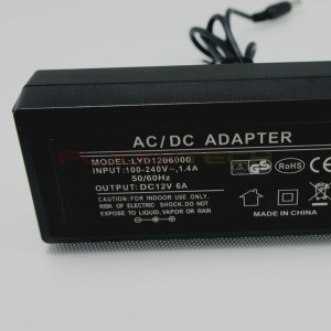 flashtech 6 AMP LED AC/DC Transformer - 72W Max Accessories FT-ACDC-6AMP