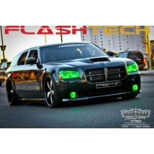 flashtech Dodge Magnum V.3 Fusion Color Change LED HALO FOG LIGHT KIT (2005-2008) Magnum DO-MG0508-V3F