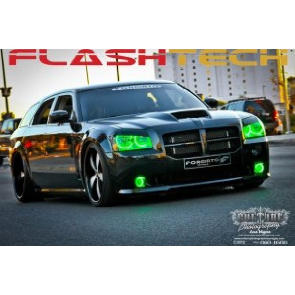 Dodge magnum v3 fusion color change led halo fog light kit 2005 2008 flashtech dodge magnum v3 fusion color change led halo fog light kit 2005 publicscrutiny