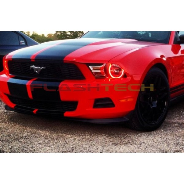 Flashtech Ford Mustang V 3 Fusion Color Change Led Halo Headlight Kit 2010