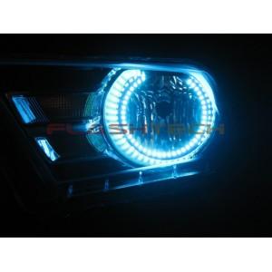 flashtech Ford Mustang V.3 Fusion Color Change LED Halo Headlight Kit (2010-2014) 2010-2014 Mustang FO-MU1013-V3H
