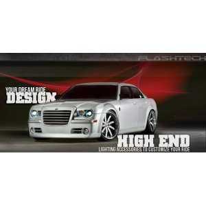 flashtech Chrysler 300c V.3 Fusion Color Change LED Halo Headlight Kit (2005-2010) 300C CH-30C0510-V3H