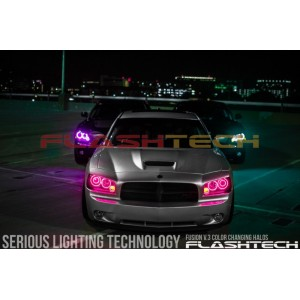 flashtech JEEP GRAND CHEROKEE V.3 Fusion Color Change LED HALO FOG LIGHT KIT (2005-2010) Grand Cherokee JE-GC0510-V3F