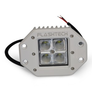 flashtech Flashtech LED Fog Light: 4 LED Flush Mount White Marine FTLB1212FC-W