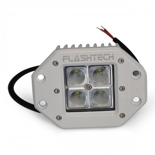 flashtech led fog light  4 led flush mount white