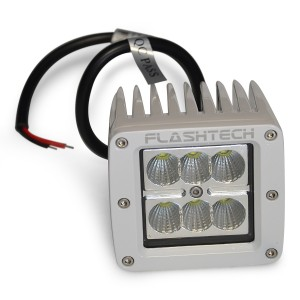 flashtech Flashtech LED Fog Light: 6 led standard mount White Marine FTLB1218-W